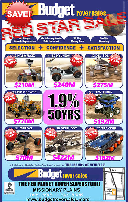 Budget Rover Sale