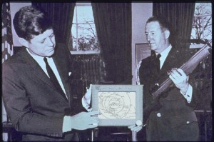 JFK Holding Etch a Sketch