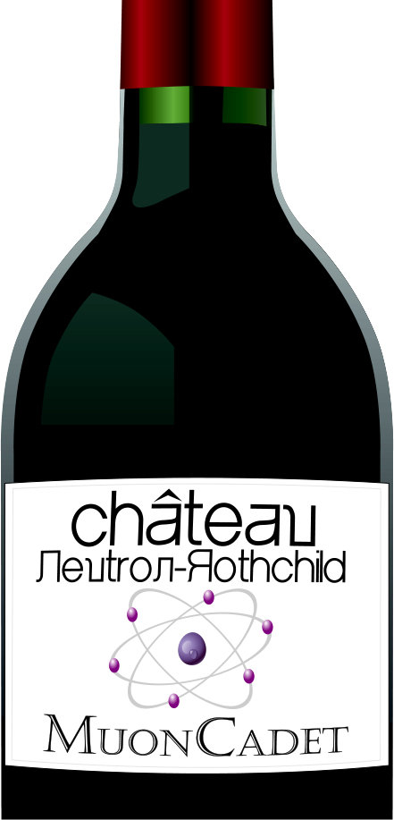 Chateau Neutron Rothschild Wine Bottle