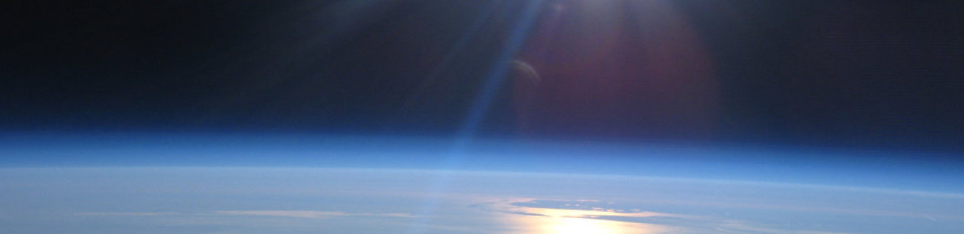 Edge of earth atmosphere