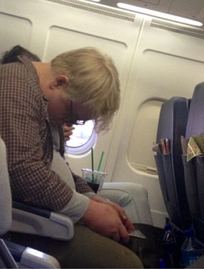 hoffman on plane